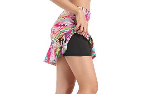 Annjoli Womens Skort Active Athletic Skirt for Running Tennis Golf Workout Sports Skorts (M, D176-31-2)
