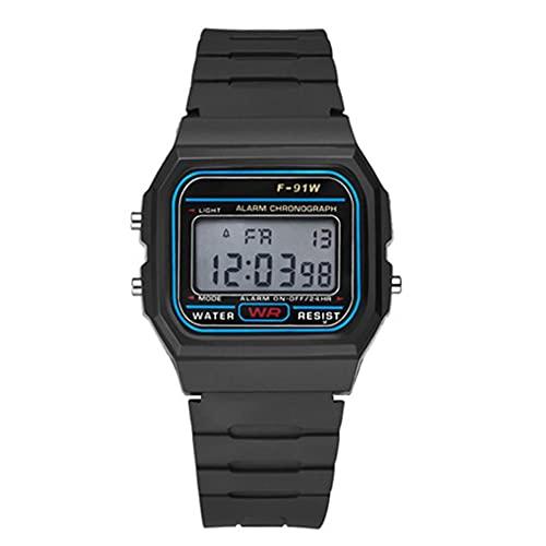 SENZHILINLIGHT Reloj deportivo digital impermeable multifuncional para hombres con luz LED Reloj de pulsera inteligente Reloj luminoso informal con podómetro