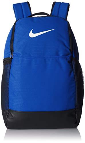 Nike Brasilia Medium Training Backpack, Nike Backpack for Women and Men with Secure Storage & Water Resistant Coating, Game Royal/Black/White