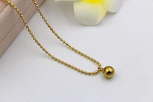 MNMXW onda di modo di qualità della collana della perla dei branelli rotondi della sfera rotonda delle donne jewelry-Gold-color