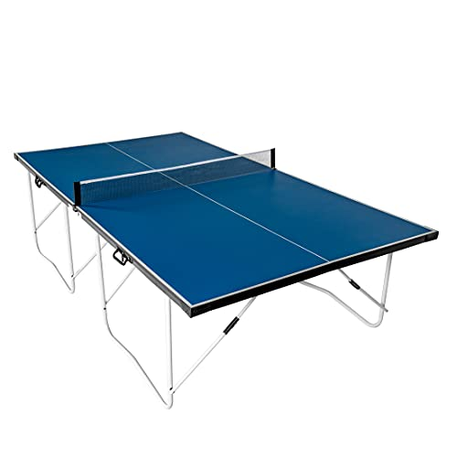 homelikesport 9FT Folding Full Size Table Tennis Table Professional Rollaway Table Ping Pong Table,Portable Easy Quickly Installation Game Table(blue)