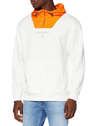 edc by ESPRIT Herren 080CC2J301 Sweatshirt, Off White (110), L