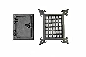A29 Hardware Cast Iron Speakeasy Door Grill/Grille with Viewing Door Black Powder Coat Finish Medium Size
