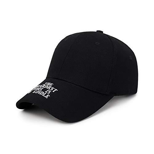 CHENDX Sombrero, Gorra de béisbol de Lana cálida de Invierno (Color : Black)