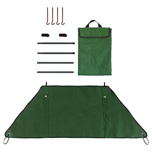 CLISPEED 1 Juego de Estufa de Camping Parabrisas Estufa de Exterior Parabrisas Estufa de Fuego Portátil Deflector de Viento para Acampar Picnic Cocina (Verde)