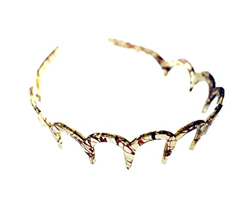 Q_TS Haarspange Stirnbänder Sturzfestigkeit Stirnband Stirnband gezahntes zerdrücktes Haar Gesicht Schmuck Leichtes Kaffee-Spinnen