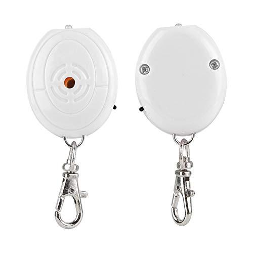 Portachiavi con controllo vocale, multiuso, resistente agli urti ABS e resistenza all'usura, per portafogli portachiavi (bianco)