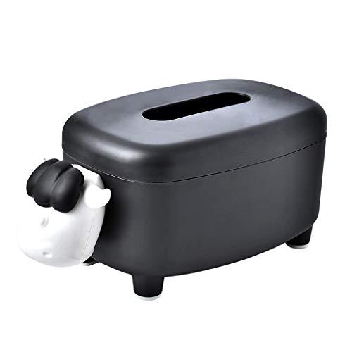 Zhenxinganghu Cartoon oveja Tissue Cover Box Serviettenhalter Container teléfono Stand Organizer Taschentuchbox para el presupuesto