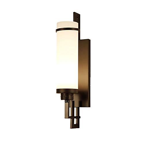 Apliques de pared Lámpara de pared LED Moderno dormitorio simple lámpara de cabecera Sala Comedor Estudio lámpara de pared de la iluminación ambiental del hotel Corredor (Color : Black)