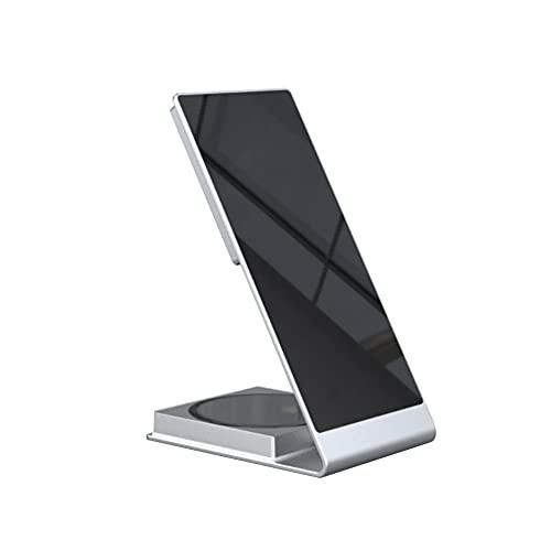 Lightofhope Adecuado para Soporte para TeléFono MóVil Cargador Auriculares TeléFono MóVil Cargador InaláMbrico MagnéTico Dos en (Plata)
