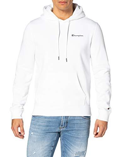 Champion Legacy Classic Small Logo Sweatshirt à Capuche, Blanc, S Homme