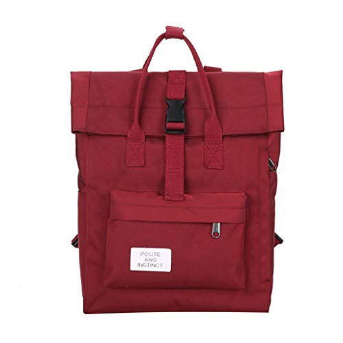 BITOPYTOPSIY Women Classic Canvas Laptop Backpacks Casual Portable Computer Handbag Anti Theft Travel College Bag Red