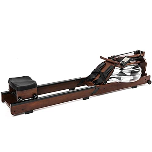 Fitness Rowing Machine, Water Rowing Machine, with Digital Monitor Real Time Data Display for Cardio Exercise Training at Home and Office Rower W/ 330 Lb Weight Capacity