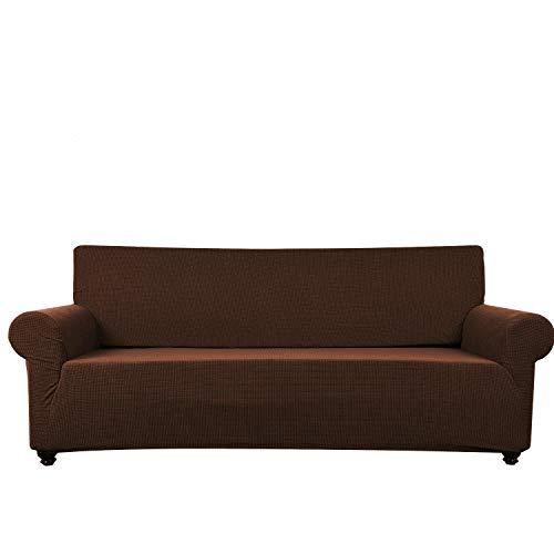 Funda elástica para sofá de 1/2/3/4, a prueba de polvo y resistente al agua, funda de sofá para mascota/niño, color sólido
