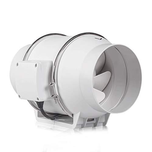 QIQIDEDIAN Conducto Redondo Ventilador de 6 Pulgadas Cuarto de baño Ventilador silencioso Ventilador Fuerte Humo de la Cocina Ventilador Extractor 150