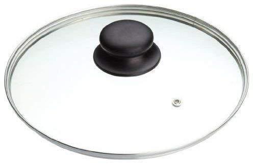 B&F Couvercle de casserole en verre trempé (14 cm, 16 cm, 18 cm, 20 cm, 22 cm, 24 cm, 26 cm, 28 cm, 30 cm, 32 cm) Couvercles de rechange pour poêles et casseroles, (28 cm)