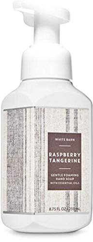 White Barn Candle Company Bath and Body Works Gentle Foaming Hand Soap w/ Essential Oils- 8.75 fl oz - Many Scents! (Raspberry Tangerine)