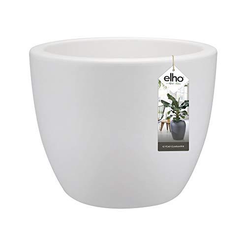 Elho Pure Soft Round Macetero Redondo, White, 30 cm
