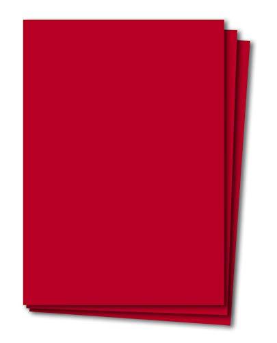 50 Blatt Tonkarton DIN A4 - Rot - 240 g/m² dicker Bastelkarton - 21,0 x 29,7 cm Pappe zum basteln für Fotoalbum Menükarte Bedruckbar DIY kreativ sein