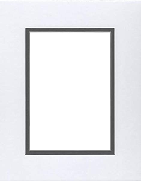 24x36 Double Acid Free White Core Picture Mats Cut For 20x30 Pictures In White And Slate Grey