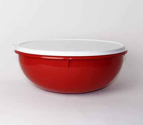 Tupperware Rührschüssel Peng 6,0 L Orange-Braun Hefeteig