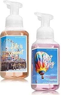 Bath and Body Works 2 Pack Gentle Foaming Hand Soap Boardwalk Vanilla Cone & Raspberry Sorbete. 8.75 Oz