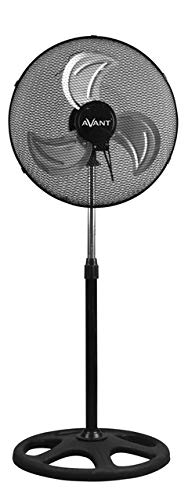 AVANT Ventilador de pie | Pack de 2 Unidades Ventilador de Pie Industrial 80W | Altura 45 Cm Regulable|Ventilador Silencioso Color Negro Oscilante con 3 velocidades.