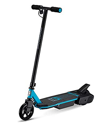 Mongoose React Electric Kids Scooter, Boys & Girls Ages 8+, Max Rider Weight Up To 175lbs, Varrying Max Speed, Aluminum Handlebars and Frame, Rear Foot Brake, Battery and Charger Included