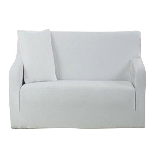 MagiDeal 3 Größen Elastische Stretch Sofabezüge Sofahusse Couch Sofa Husse, Weich und Beque für 1er-/2er-/3er Sofa - Weiß, 3 Sitz 190-230cm