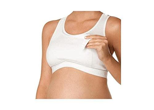 Wireless Nursing Sports Bra High Impact Support Nursing Bra by La Leche League - Jet Black/Grey, Large