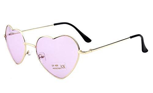 Occhiali da Sole a Forma di Cuore da Donna Designer di Marca da Donna Moda Clear Ocean Lens Gradient Occhiali da Sole c14clearpurple