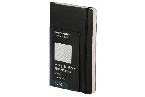 Wochennotizbuch 2012, 9x14 cm, weicher Einband, schwarz (Moleskine Legendary Notebooks (Calendars))