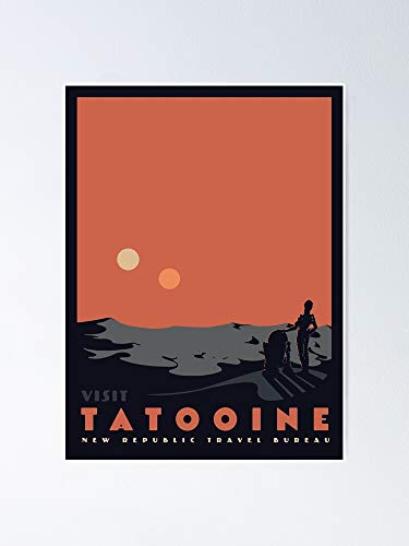 guyfam Visit Tatooine Poster 12x16 Inch No Frame Board for Office Decor, Best Gift Dad Mom Grandmother and Your Friends