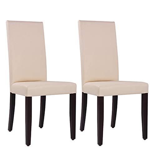 pemora 2-er Set Polsterstuhl RELA mit hoher Rückenlehne - vollgepolstert mit Kunstleder in beige - Esszimmerstuhl Restaurantstuhl Bistrostuhl Gastrostuhl Hochlehner