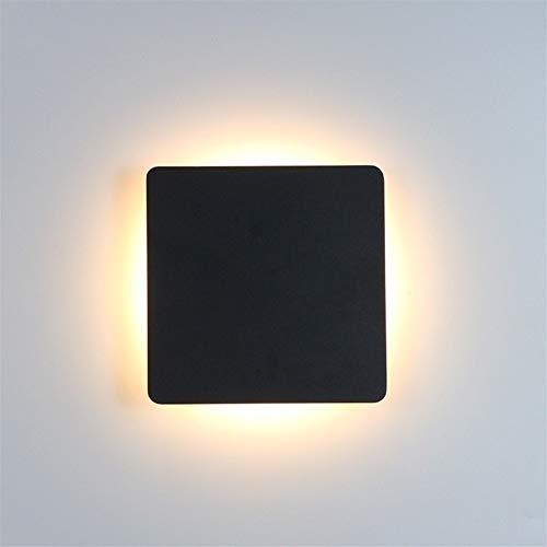 GZSC Indoor LED-wandlampen, woonkamerdecoratie, wandlamp, verlichting voor thuis, fixatie, loft, trappen, licht, ronde/vierkant aluminium, AC90-260V