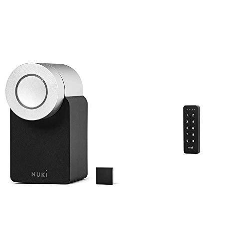 Nuki Smart Lock 2.0 | Elektronisches Türschloss | Sperren via Bluetooth | einfach nachrüstbar & 220284 Keypad Erweiterung Öffnen und Schließen des Smart Lock via 6-stelligem Zutrittscode | Bluetooth