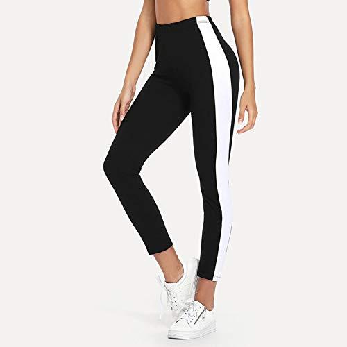 GDRFHJZ Fitness nieuwe dameslegging met naaifunctie, voor workout en fitness, hoge taille, zwart, gothic, compressiedruk, vrijetijdsbroek