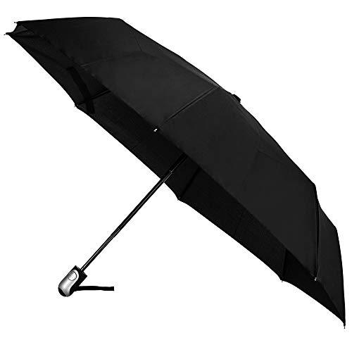 Paraguas Compacto de Viaje Resistente al Viento, botón de Apertura y Cierre automáticos para Viajes, Paraguas pequeño portátil para Sol y Lluvia, diseño Ligero, de Cantor