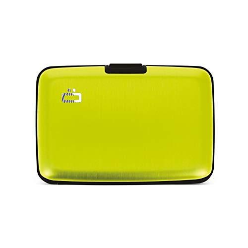 Ögon Smart Wallets - Cartera de Aluminio Stockholm - Tarjetero RFID antirrobo - Capacidad 10 Tarjetas y Billetes - Lima Verde