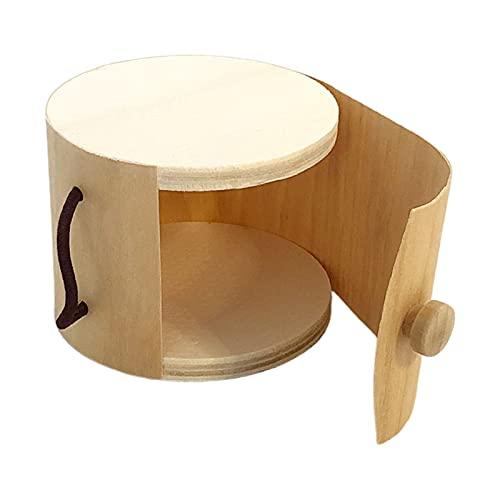 F Fityle Caja de almacenamiento de joyería de madera Caja de almacenamiento de corteza de árbol suave Pendientes Organizador de mesa Anillos Organizador de - 11x7 cm