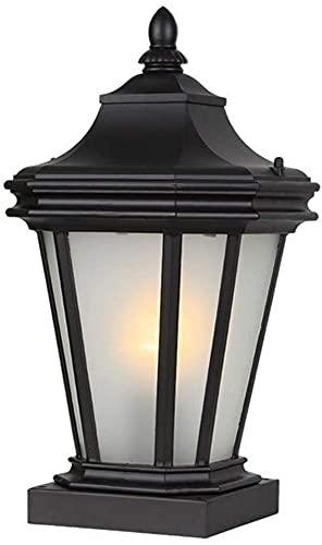 Luces de columna de jardín al aire libre retro IP44 Lámpara de pilar de poste impermeable E27 Lámpara de mesa de valla de patio de villa a prueba de herrumbre Iluminación de paisaje de metal d