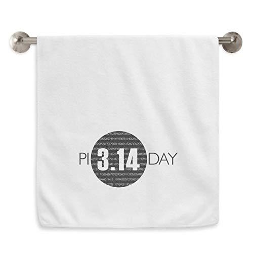 DIYthinker 3.14 Día Pi Aniversario Circlet Blanca Toallas Toalla Suave paño de 13X29 Pulgadas 13 x 29 Pulgadas Blanco