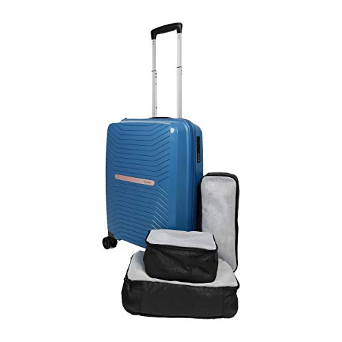 Skaihoppr PP Hardside Spinner Wheels Luggage - 20 inch Carry-on with Packing Cubes & Shoe Bag
