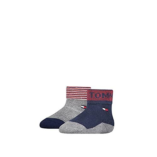 Tommy Hilfiger Fold Over Baby Socks Calcetín clásico, Tommy Original, 23 para Bebés