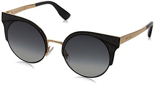 Jimmy Choo Damen ORA/S 9O 1KK 51 Sonnenbrille, Schwarz (Bkglttr Gold/Dark Grey Sf)