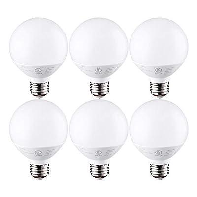 TORCHSTAR G25 LED Bulb 40 Watt Equivalent, Dimmable, 6W Light Bulbs for Bathroom Vanity Mirror, 5000K Daylight, E26 Base, UL & Energy Star, Pack of 6