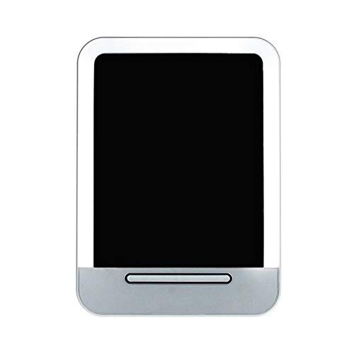 HXUJ Miroir de Maquillage de Mode LED Miroir de Charge USB Miroir cosmétique portatif Miroir de Poche Compact,Silver