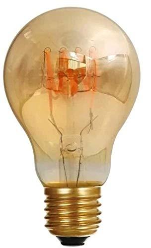 Girard Sudron 716669-LED GLS A60 - Bombilla LED con filamentos en Bucle, B22 (Casquillo de Bayoneta BC), Color Blanco cálido, 150 lúmenes, 5 W, ámbar