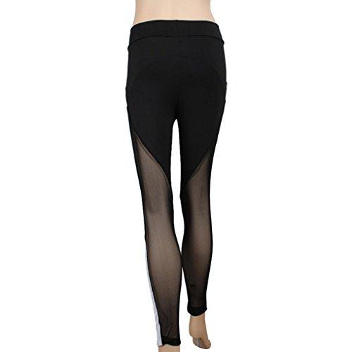 Yoga Hosen Damen Mädchen Yoga Leggings Hose Btruely Hohe Taille Sporthosen Yoga Workout Gym Pants Yoga Leggings Fitness Übung Ausbildung Hose (M, Schwarz 5) - 6