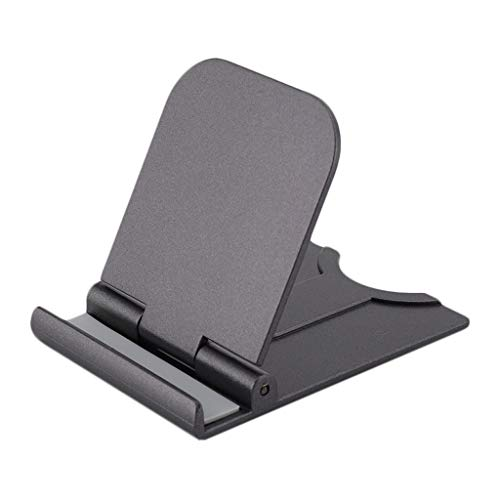 YWSZJ Portable Phone Stand Adjustable Foldable Tablet Mount Desktop Phone Holder Cradle Dock Support Desk (Color : Gray)